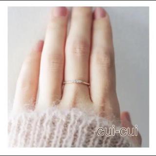 cui-cuiキュイキュイ 5石ダイヤモンドリング(リング(指輪))