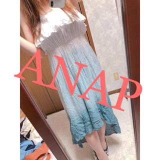 アナップ(ANAP)の24.ANAPベアトップマキシ丈ワンピース(ロングワンピース/マキシワンピース)