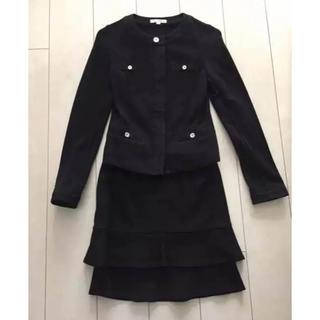 ナラカミーチェ(NARACAMICIE)の【美品】ナラカミーチェ  0サイズ Sサイズ スーツ 黒 ジャケット スカート(スーツ)