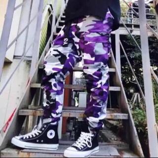 迷彩カーゴパンツ 紫(ワークパンツ/カーゴパンツ)