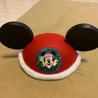 ディズニー(Disney)のクリスマス限定のイヤーハット(キャップ)
