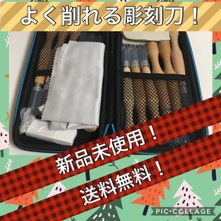 送料無料 彫刻刀 12本セット SK7炭素鋼 プラケース付き(その他)