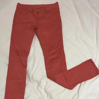 ジーユー(GU)のパンツ ズボン カジュアル ジーユー オレンジ(カジュアルパンツ)