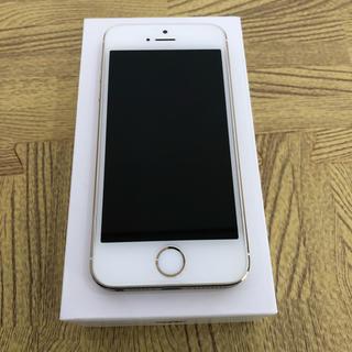 エヌティティドコモ(NTTdocomo)のDoCoMo iPhone 5s 16GB ゴールド 美品(スマートフォン本体)