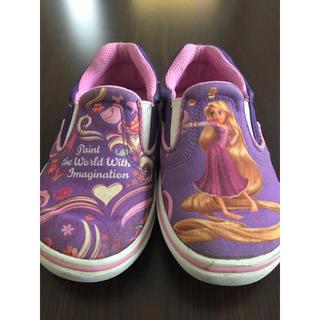 ディズニー(Disney)の中古 ディズニープリンセス ラプンツェル スリッポン スニーカー 靴17cm(スリッポン)