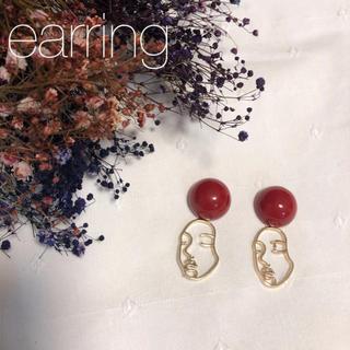 ザラ(ZARA)のイヤリング  フェイス ハンドメイド 韓国ファッション アクセサリー (イヤリング)