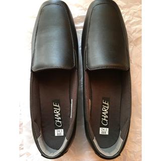 シャルレ(シャルレ)のあっこ様専用 シャルレ RW071 ブラック 24.5㎝ 新品未使用(ローファー/革靴)