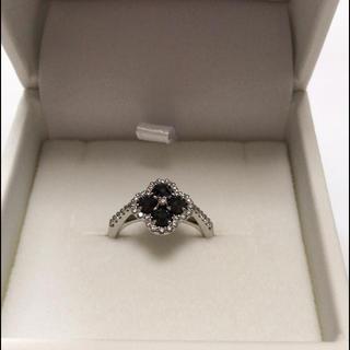 新品★Pt900 ブラックダイヤモンドリング(リング(指輪))