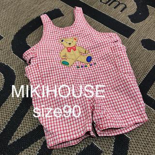 ミキハウス(mikihouse)のMIKIHOUSE ミキハウス 可愛いチェックオーバーオール♡ (その他)