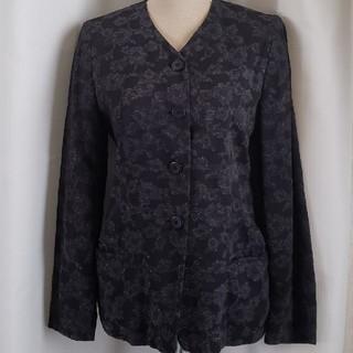 セルッティ(Cerruti)の大変美品 CERRUTI 1881 ドイツ製 品格ある綺麗なジャケット 黒(ノーカラージャケット)