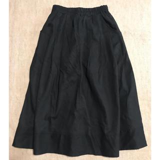 ウエストゴムリネン混スカート ブラック(その他)