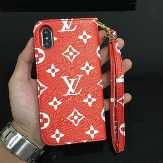 ルイヴィトン(LOUIS VUITTON)のLouis Vuitton iPhoneX/Xs レッドレザー携帯電話ケースカー(iPhoneケース)