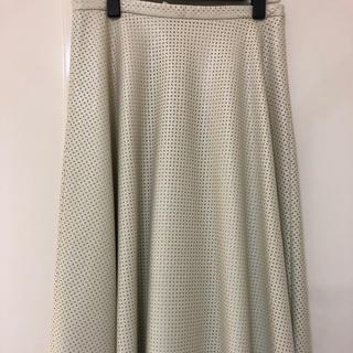 アングローバルショップ(ANGLOBAL SHOP)のアングローバルショップ パンチングレザー スカート(ひざ丈スカート)