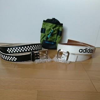 アディダス(adidas)のベルト紳士2本 ボールや小物入れポーチ三点セット(ベルト)