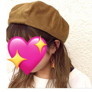 カスタネ(Kastane)のベレー帽(black)(ハンチング/ベレー帽)