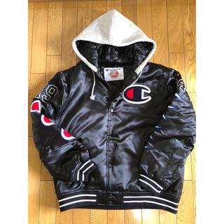 シュプリーム(Supreme)のSupreme/Champion Varsity  Jacket Black L(スタジャン)