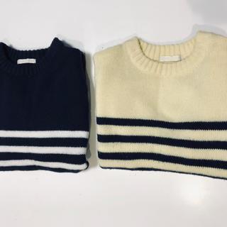 ジーユー(GU)のGU アクリルセーター 2着(110cmと120cm)(Tシャツ/カットソー)