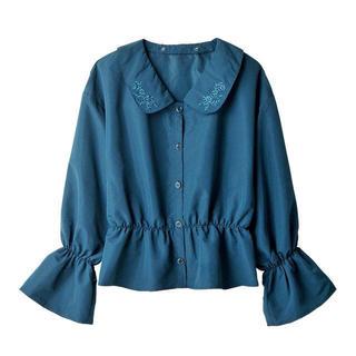 シマムラ(しまむら)の新品タグ付き しまむら×mer 3wey襟付き刺繍ブラウス(シャツ/ブラウス(長袖/七分))