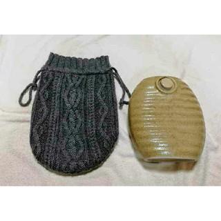 湯たんぽ 陶器 カバーつき(日用品/生活雑貨)