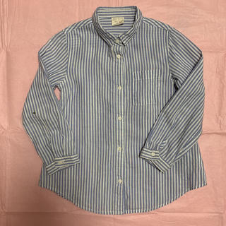 ザラ(ZARA)のZARA ストライプシャツ size2/3、98cm(ブラウス)