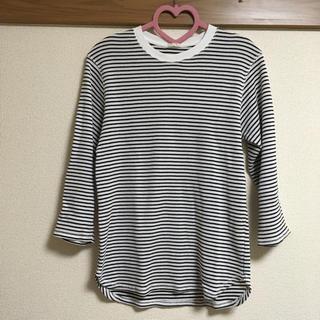 ジーユー(GU)の【GU】□ ワッフルボーダー7分袖(Tシャツ/カットソー(七分/長袖))