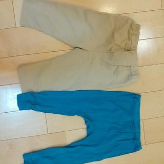 ムジルシリョウヒン(MUJI (無印良品))の女児パンツ二枚セット100と95(パンツ/スパッツ)
