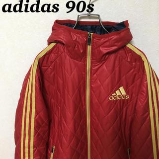 アディダス(adidas)の90s adidas アディダス ナイロンジャケット パフォーマンスロゴ 刺繍(ナイロンジャケット)