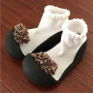 新品 未使用 12.5cm アティパス  ブラック 靴(その他)
