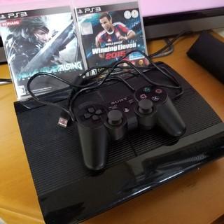 プレイステーション3(PlayStation3)のPS3 CECH-4000B ソフト2本セット 本体動作確認済み(家庭用ゲーム本体)