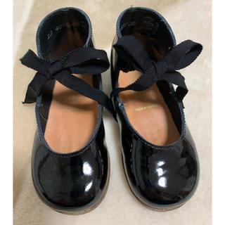 ボンポワン(Bonpoint)のボンポワン エナメルシューズ ベビー靴 ブラック サイズ23(フォーマルシューズ)