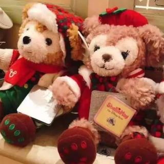 Disney - ダッフィー&シェリーメイ  セット ぬいぐるみ クリスマス 上海ディズニー 香港