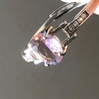 ピンクトルマリン リング シルバー925 刻印有 フリーサイズ(リング(指輪))