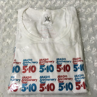 アラシ(嵐)の【USED】嵐 2009 5×10 七分袖 Tシャツ(アイドルグッズ)