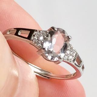 トルマリン リング シルバー925 刻印有       フリーサイズ(リング(指輪))