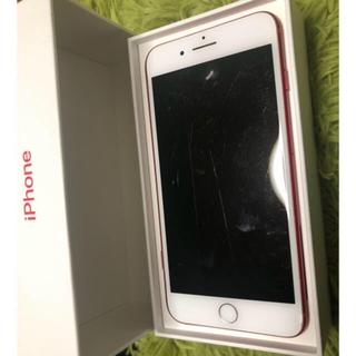 アップル(Apple)のiPhone7plus レッド(スマートフォン本体)