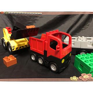 Lego - LEGO デュプロ 大型トレーラー ブルドーザー ダンプカー ショベルカー