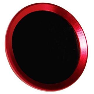 新品 レッド×ブラック iPhone/iPad 指紋認証 ホームボタン シール(保護フィルム)