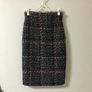 ダズリン(dazzlin)のツイードタイトスカート(ひざ丈スカート)