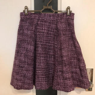 ジーユー(GU)のGU  ツイード素材 ミニスカート(ミニスカート)