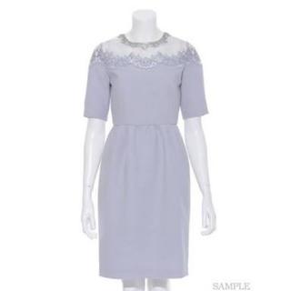 リリーブラウン(Lily Brown)のオーガンジー刺繍ビジュードレス(ミディアムドレス)