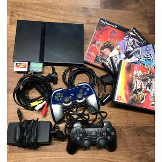 プレイステーション2(PlayStation2)のプレステ2本体 ソフト2本 ジャンク3本(家庭用ゲーム本体)