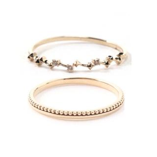 アガット(agete)のミロア ピンキーリングセット(リング(指輪))
