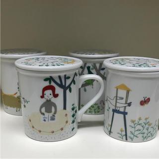 可愛い絵柄のマグカップ、蓋付き(マグカップ)