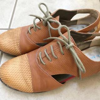 オゥバニスター(AU BANNISTER)のAU BANNISTER オゥ バニスター 革靴 靴 くつ キャメル 革ぐつ(ローファー/革靴)
