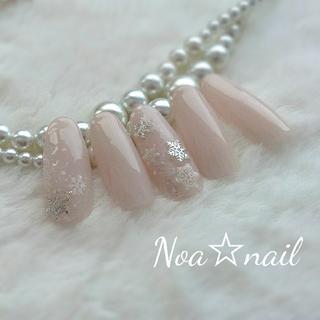 シンプル結晶ネイル