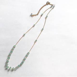 ①グリーンカイヤナイト ネックレス 40センチ(ネックレス)