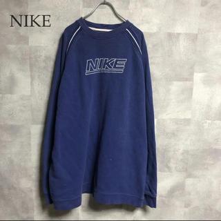 ナイキ(NIKE)のNIKE 刺繍ロゴ オーバーサイズスウェット トレーナー ロング丈 (スウェット)