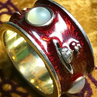 ヴィヴィアンウエストウッド(Vivienne Westwood)のヴィヴィアン キングリング レッド XS(リング(指輪))