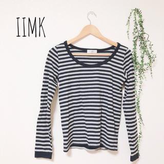 アイアイエムケー(iiMK)のIIMK ボーダーTシャツ(Tシャツ(長袖/七分))