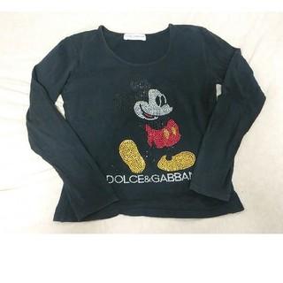 ドルチェアンドガッバーナ(DOLCE&GABBANA)のDOLCE&GABBANA ラインストーンミッキーロンT ※熱海の花火様専用(Tシャツ(長袖/七分))